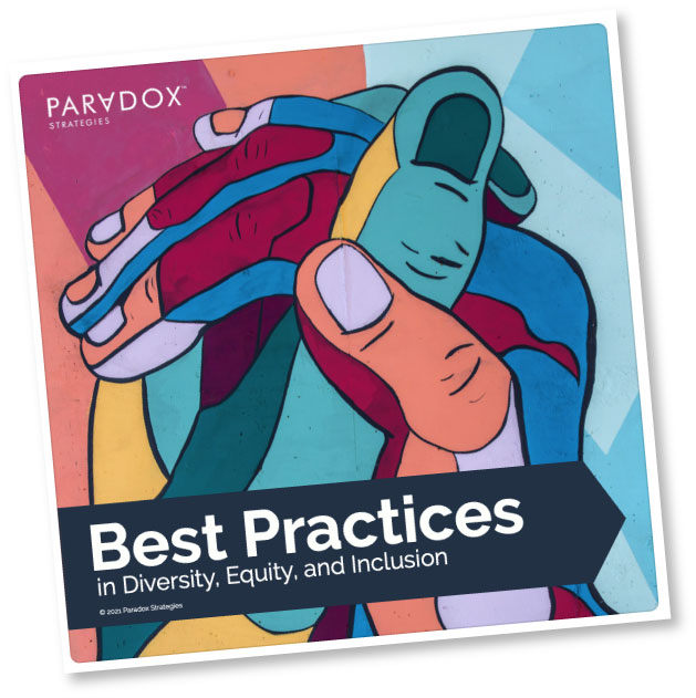 DEI Best Practices Report cover image (source photo by Tim Mossholder on Unsplash)